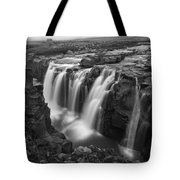 Laugafell Mountain Lodge Waterfalls 3155 Tote Bag
