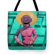 Laughing Gardener Tote Bag