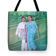 Laughing Girls Tote Bag