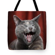 Laughing Kitty Tote Bag