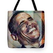 Laughing President Obama V2 Tote Bag