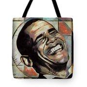 Laughing President Obama Tote Bag