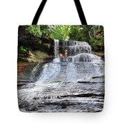 Laughing Whitefish Waterfall In Michigan Tote Bag