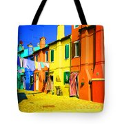 Laundry Between Chimneys Tote Bag