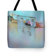 Laundry Day Blues Tote Bag