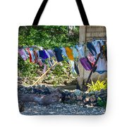 Laundry Drying In The Wind Tote Bag