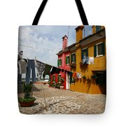 Laundry Held By Wooden Pole Tote Bag
