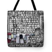 Laundry Line - Dubrovnik Croatia #3 Tote Bag