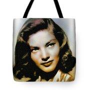 Lauren Bacall - Vintage Painting Tote Bag