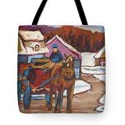 Laurentian Carriage Ride Tote Bag