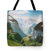 Lauterbrunnen Valley Switzerland Tote Bag