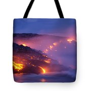 Lava At Twilight Tote Bag