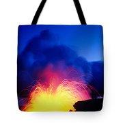 Lava Explodes Tote Bag