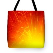 Lava Explodes Into Ocean Tote Bag