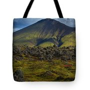 Lava Field And Mountain - Iceland Tote Bag