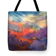 Lava Flow Abstract Tote Bag