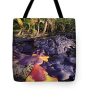 Lava Flow And Palms Tote Bag