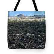 Lava Flow And Schonchin Butte, Lava Beds Nm, California, Usa Tote Bag
