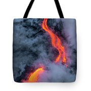 Lava Flowing Into The Ocean 20 Tote Bag by Jim Thompson