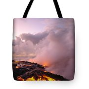 Lava Flows At Sunrise Tote Bag by Peter French - Printscapes