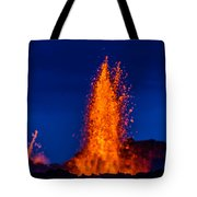 Lava Fountains At The Holuhraun Fissure Tote Bag