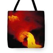 Lava Into The Sea Tote Bag