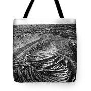 Lava Landscape - Bw Tote Bag
