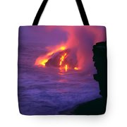 Lava Meets Ocean Action Tote Bag