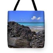 Lava Rocks At Haena Beach Tote Bag