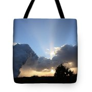 Lava Sunset Tote Bag