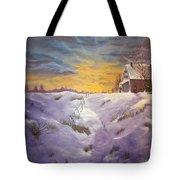 Lavendar Snow Tote Bag