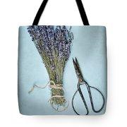 Lavender And Antique Scissors Tote Bag