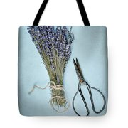 Lavender And Antique Scissors Tote Bag