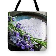 Lavender Bath Salts In Dish Tote Bag