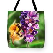 Lavender Bee Tote Bag