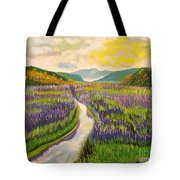 Lavender Brook Tote Bag