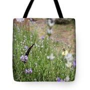 Lavender Butterflies Tote Bag