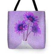 Lavender Chrysanthemum Still Life Tote Bag