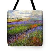 Lavender Field Tote Bag by David Stribbling