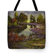Lavender Field, Langley B C Tote Bag