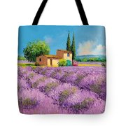 Lavender Fields In Provence Tote Bag