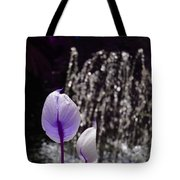 Lavender Flower At Fountain Tote Bag