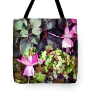 Lavender Fuchsias Just Hanging Around The Garden Tote Bag