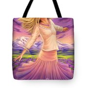 Lavender - Heal Through Joy Tote Bag
