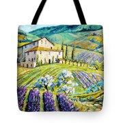 Lavender Hills Tuscany By Prankearts Fine Arts Tote Bag