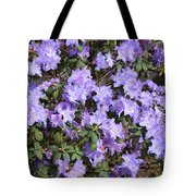 Lavender Rhododendrons Tote Bag