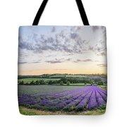 Lavender Sunset Panorama Tote Bag