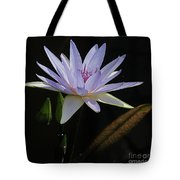 Lavender Tropical Water Lily Tote Bag