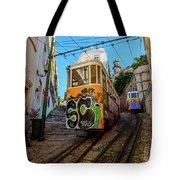 Lavra Funicular, Lisbon, Portugal Tote Bag