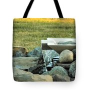 Lawn Water Feature Tote Bag